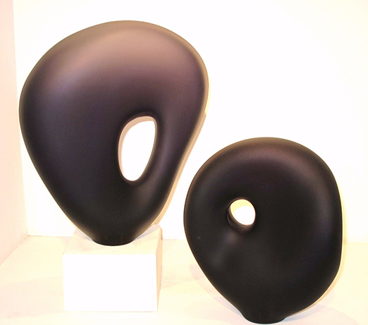 indigo glass sculptures