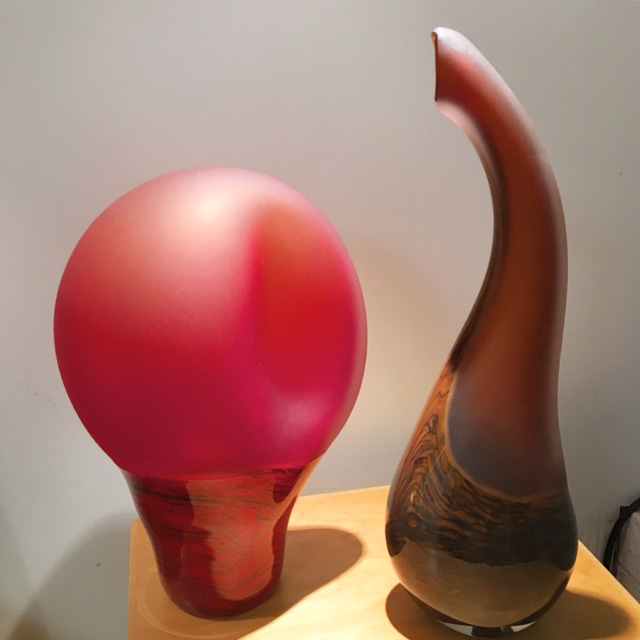 Salinas and red sculpture