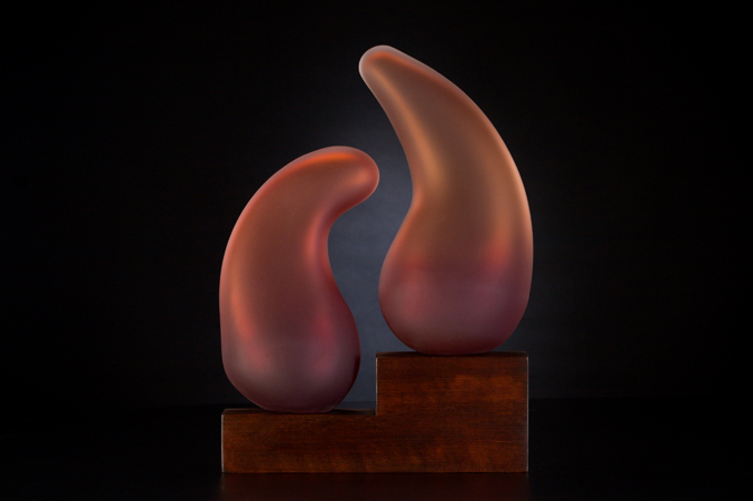 Shidoni Sculpture in Scarlet Red