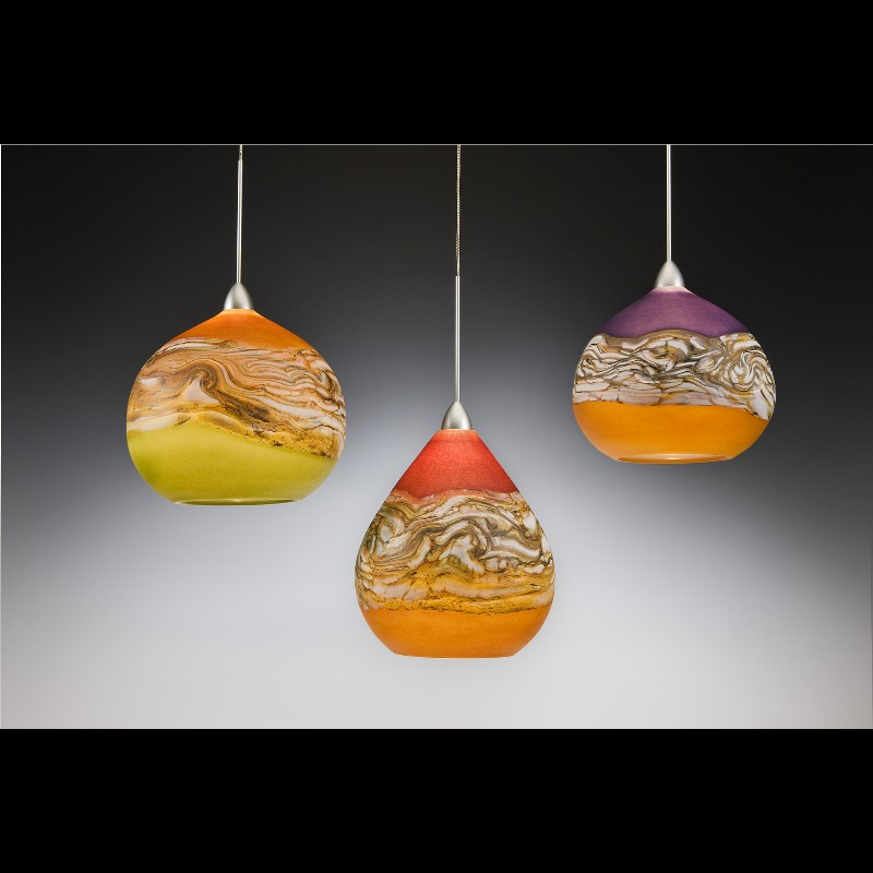 3 strata pendant lights
