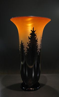 Sunset Salmon Pine Vase