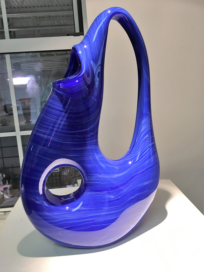 Blue Art Glass Sculpture
