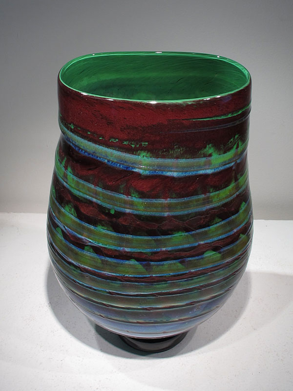 interior green tapestry vase