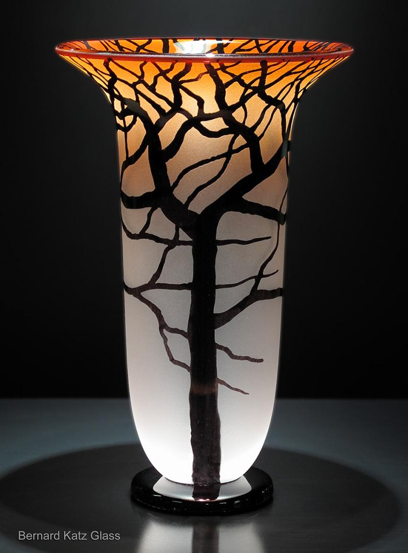 Sunset Salmon Tree Vase